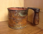 Antique Two Cup Measure Sifter