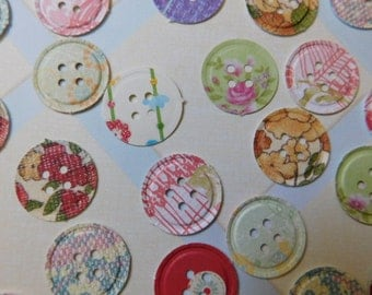 Paper Button Embellishments - Fifty of Them