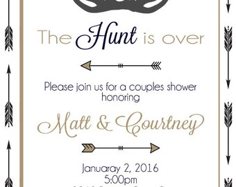 Bridal Shower Invitations, Deer Couples Shower, Bridal Shower, 100% Customized