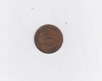 1870 Spanish copper coin