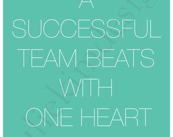 PRINTABLE Team Heart PDF 8x10
