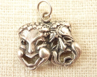 Vintage Sterling Comedy and Tragedy Masks Charm