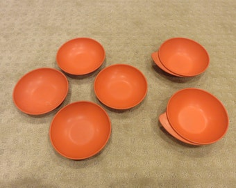 Vintage Orange Bowls