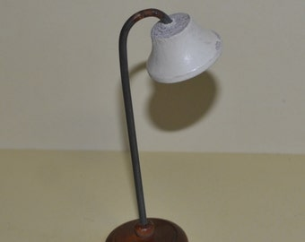 Vintage Kage Dollhouse Floor Lamp Wood and Metal 2 of 2