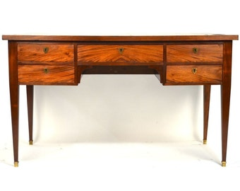 French Directoire / Louis Philippe style Cherry Wood 5 Drawer Writing Desk