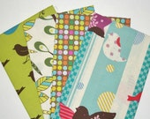 FAT QUARTER Bundle - Birds, Designer Cotton Quilt Fabric, Quilting Fabric, Fat Qtr (#59)