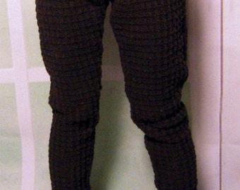Black thermal leggings for slim MSD dollfie, minifee, 1/4 bjd DOLL