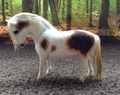 OOAK felt fabric model Shetland pony horse 'Teddy' RESERVED