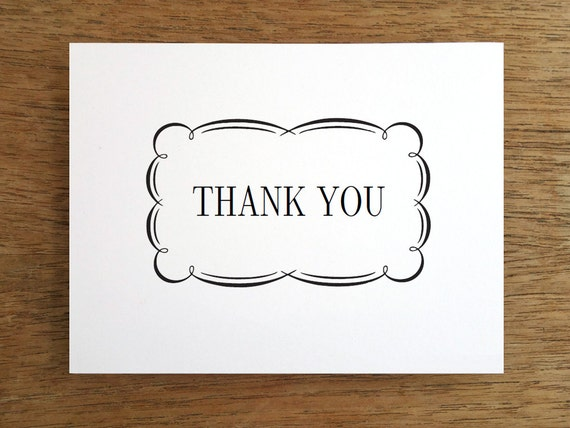 Printable Thank You Card Wedding Instant Download Thank