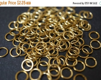ON SALE Raw Brass Round Jump Rings - 5mm x 0.6mm thick -100 pcs