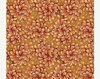 SALE Petal Flow in Rust - Half Yard