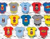 Superhero Cupcake Toppers, Superhero Baby, Superhero Onesies,DIGITAL, YOU PRINT, Superhero Baby Shower, Baby Onesie Stickers,Baby Onesies