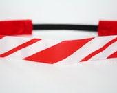 Candy Cane Stripe No Slip Headband