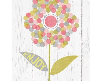 Dot Flower Art Print