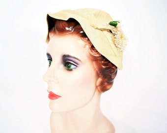 1920s hat vintage 20s straw cap Gatsby garden party cloche hat