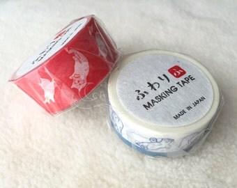 Fuwari Washi Masking Tape - Cats / Polar Bears