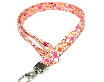 Frog Fabric Lanyard for your ID Badge Holder Name Tag Keys