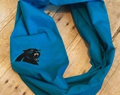 Carolina panthers infinity scarf, football,monogram