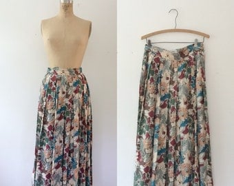 floral print skirt / vintage 80s skirt / Perfect Pallete skirt