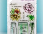 Bouquet For You Clear Stamp Set by Stampendous - NEW