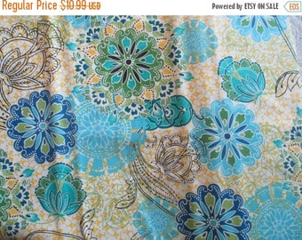 SALE Blue Yellow Calypso Fabric - Studio e