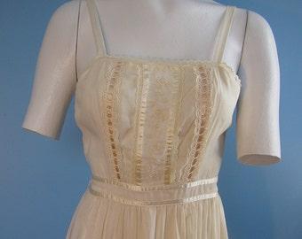 Vintage 70s 80s Gunne Sax Prairie Sundresses Lace  XS