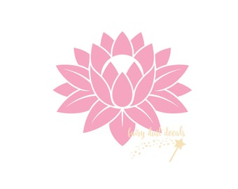 Lotus Flower Wall Decal - yoga - flower wall decal - vinyl decal for wall - yoga studio decals - lotus flower wall sticker for home office