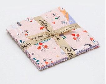 SUMMER SALE - 5 inch stacker (42 squares) Charm Pack - Princess Dreams - Riley Blake Designs