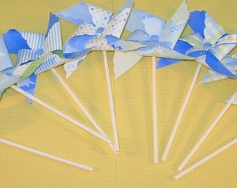 Pastel Blue Baby Boy Pinwheels - Martha Stewart Collection   (8)