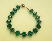 CLOSING SALE Deep Green Crystal Bracelet