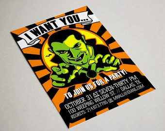 PRINTABLE Spooky Halloween Party Invitation or Evite