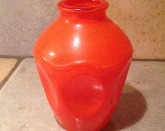 Small Orange Glass Vase