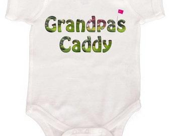 Funny Baby Bodysuit Grandpa's Caddy Golf bodysuit and infant tee  infant romper creeper