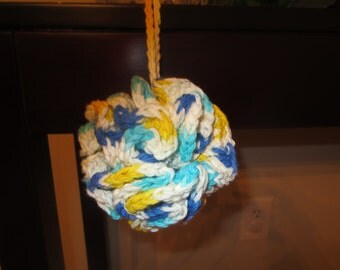 100% Cotton Multi Color Crochet Shower / Bath Scrubbie