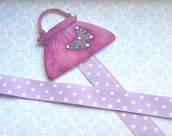 Lavender Butterfly Pocketbook Bowholder