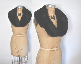Boho Shearling Fur Collar / black sheep