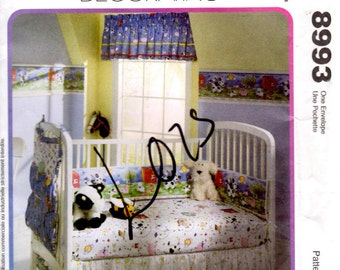 McCalls 8993 Home Decorating Sewing Pattern - Nursery Decor - Old MacDonald Nursery Collection