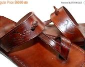 20% OFF Brown Decor Twizzle Leather Sandals for Men & Women - Handmade Flat Sandals, Leather Flip Flops, Unisex Sandals, Brown Leather Sanda