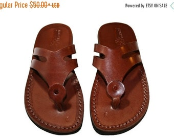 15% OFF Brown Arrow Leather Sandals for Men & Women
