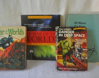 The War of The Worlds Collection/1950s 1960s/Sci Fi Atomic Era/War Of The Worlds, Space Cadets, Atomic Science/War of Worlds Book w/ CD