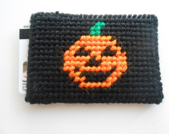 Plastic Canvas Halloween Gift Card Holder