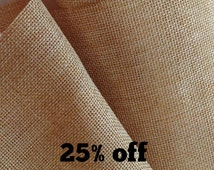 SALE 25% OFF - Jute - Off The Roll - Natural - Various Sizes - 15cm Wide or 30cm Wide