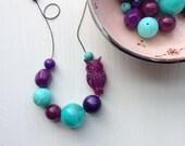 spirit moon necklace - vintage lucite