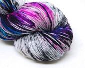 """Hardcore Sock Yarn - """"Mix Tape"""" - Handpainted Superwash Merino - 463 Yards"""