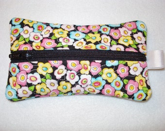 ZIPPERED Bag  Tissue Kleenex Holder  Great Gift Idea for all Ages