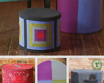 Sale!  Pieced Stool & Table pattern (IJ983CR) - Indygo Junction