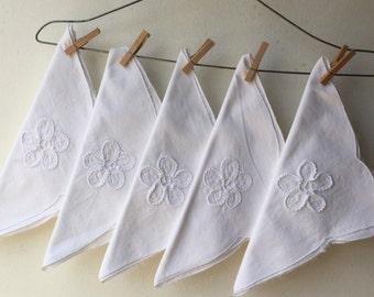 White Vintage Napkins - Set of Twelve