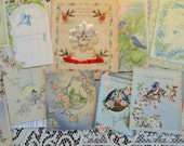 Celebrate with the Blue Bird and Other of the Species in Vintage All Occasion Lot No 93 Birthday Anniversary Christmas Lot of 12