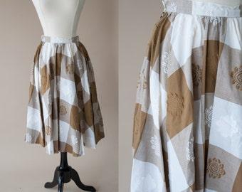 50's Cotton Swing Skirt Small
