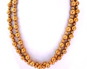 Vintage brass effect bead necklace